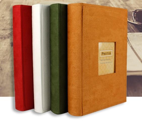 New Elegant 6 Inch Flannel Handmade DIY Vintage Photo Album Artistic Exquisite Inserts Scrapbook High Quality Mount Album C473