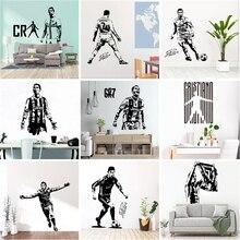 Creative Real Madrid Ronaldo CR7 Wall Stickers Decor For Bedroom Living Room Decoration Vinyl Decal Mural naklejki wallsticker