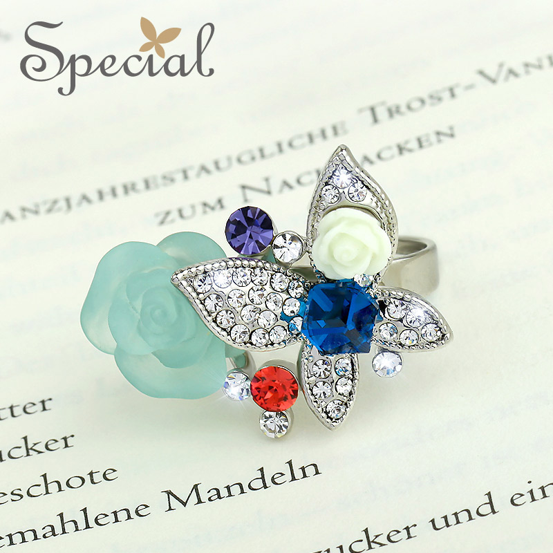 special new fashion western style wedding rings flowers vintage engagement ring gifts for girls women jz150210 - Western Style Wedding Rings