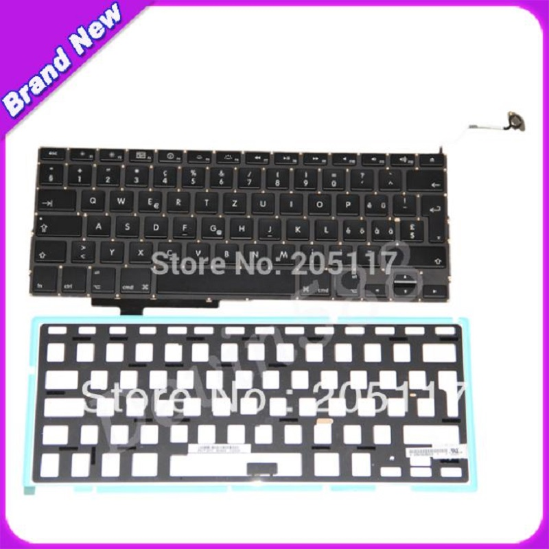 Compare Cheap & Brand New ! For Apple Macbook Pro 17 A1297 Laptop SWISS Keyboard With Backlight compare cheap