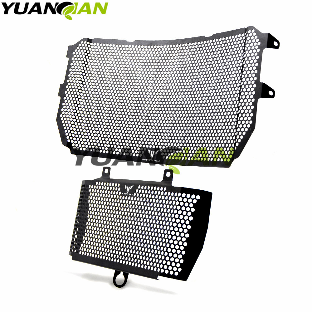 Motorcycle Radiator Guard Protector Grille Grill Cover Stainless Steel Radiator Grill Cover For yamaha MT10/FZ10/FJ10 2016-2017 motorcycle radiator protective cover grill guard grille protector for kawasaki z1000sx ninja 1000 2011 2012 2013 2014 2015 2016