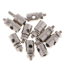 10pcs Pushrod Linkage Stopper Servo Connector for RC Plane Helicopter Parts(China)