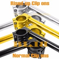 For Yamaha YZF R6 750 R1 R6S Set 50mm 7/8 22mm CNC Moto Clip Ons Handlebars High quality Rised up And Normal Handle Bars Grips