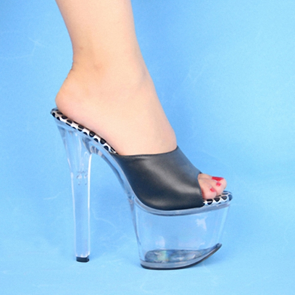 Stripper Shoes Free Postage Fees 17cm High-Heeled Shoes Lady Platform Crystal Sandals Low Price Sexy Clubbing 6 Inch High Heels 20cm high heeled shoes sexy shoes full transparent crystal bag sandals performance shoes 8 inch high heeled shoes