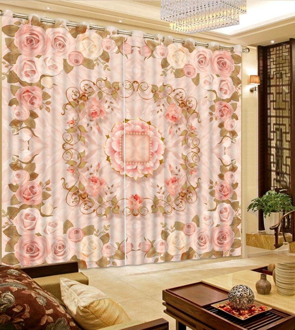 Taille personnalisée rideau de fenêtre Photo motif de pierre rideaux de parquet pour la chambre rideaux occultants