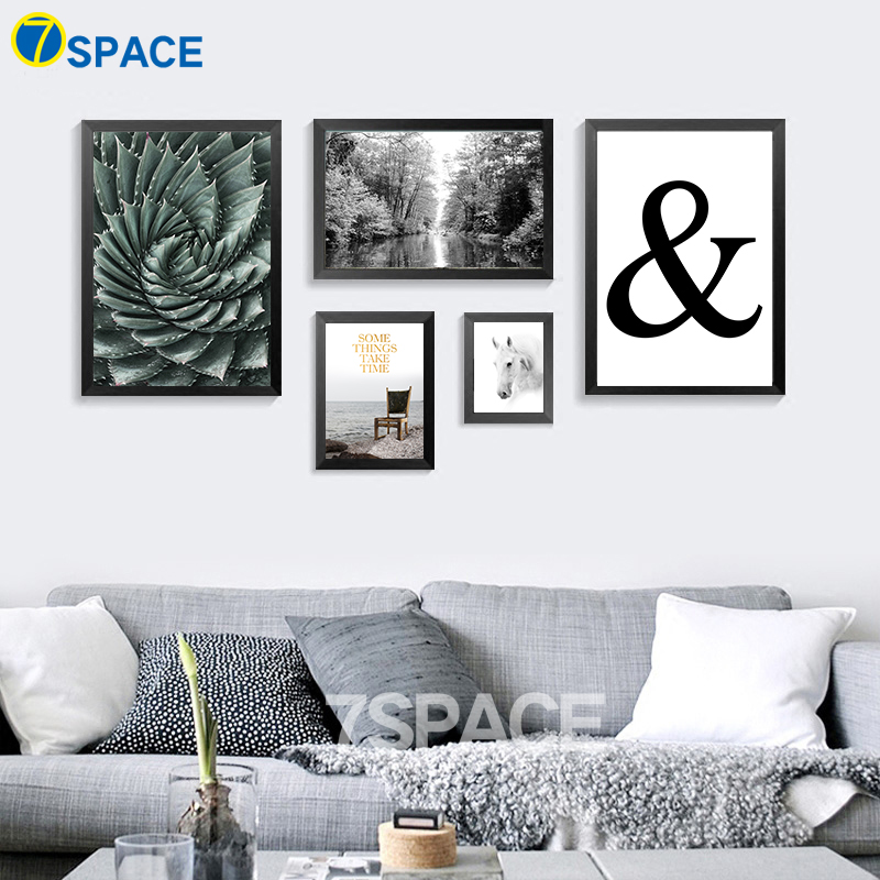 7-Space Nordic Landscape Wall Art Canvas Painting Rainforest Rafting Canvas Prints Poster Wall Pictures For Living Room No Frame