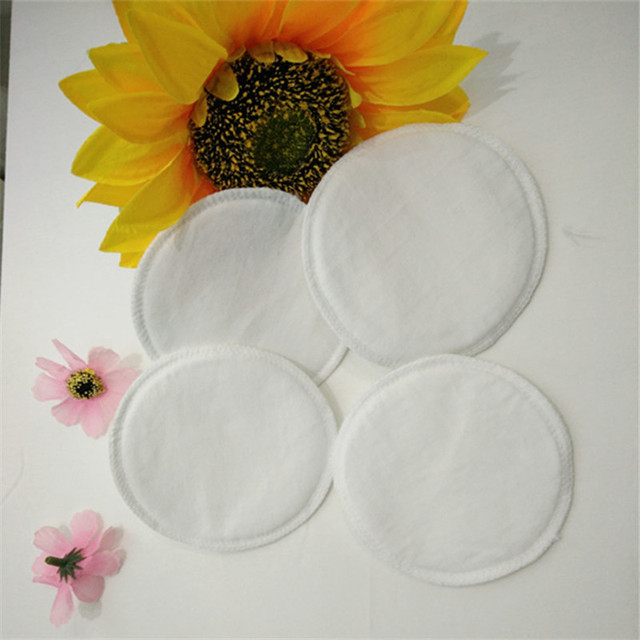 1 Pack = 6 Pcs pure cotton washable breast pads galactorrhea Anti-overflow nursing pads pregnant maternity pads baby feeding