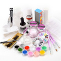 Hot Limited Pedicure Manicure Hot Nail Art Set Acrylic Liquid Glitter Powder for Buffer Brush Form Tips Tools Diy Kit