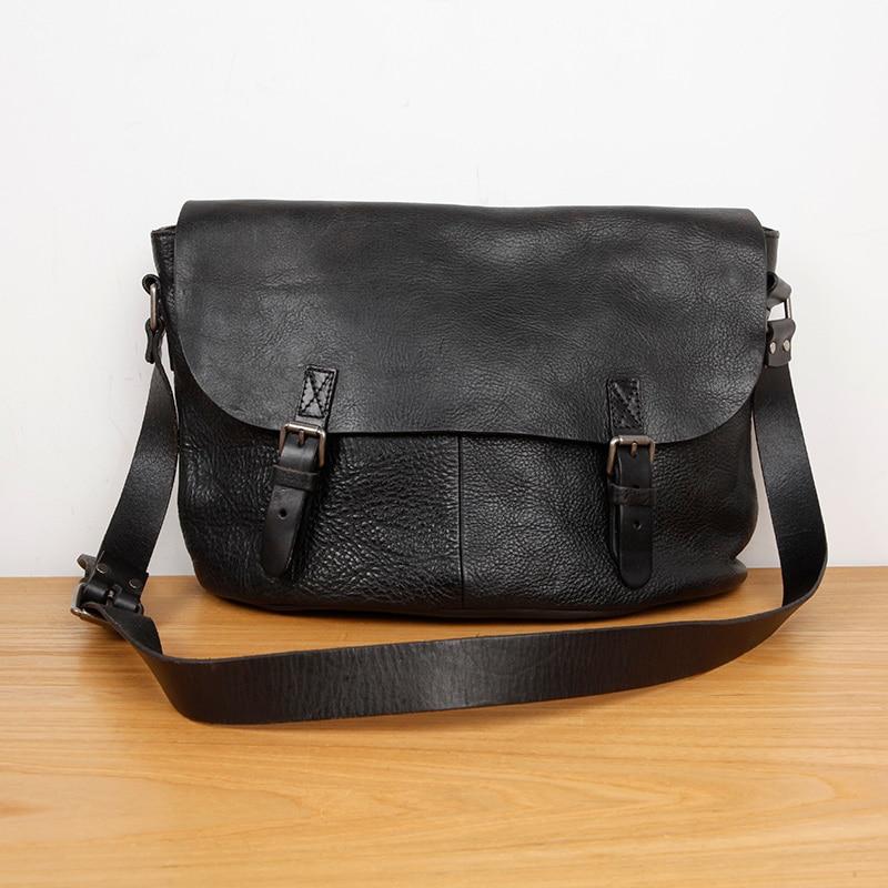 Lan 정품 가죽 남성 숄더 가방 레저 핸드백 공장 무두질 된 암소 가죽 가방 일본식-에서서류 가방부터 수화물 & 가방 의  그룹 1