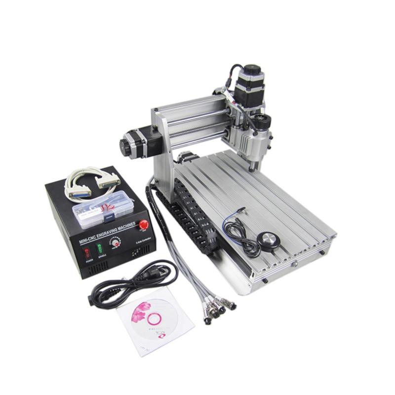 3d wood router 3020 230W DC spindle mini cnc milling machine with cutter collet clamp vise drilling Числовое программное управление