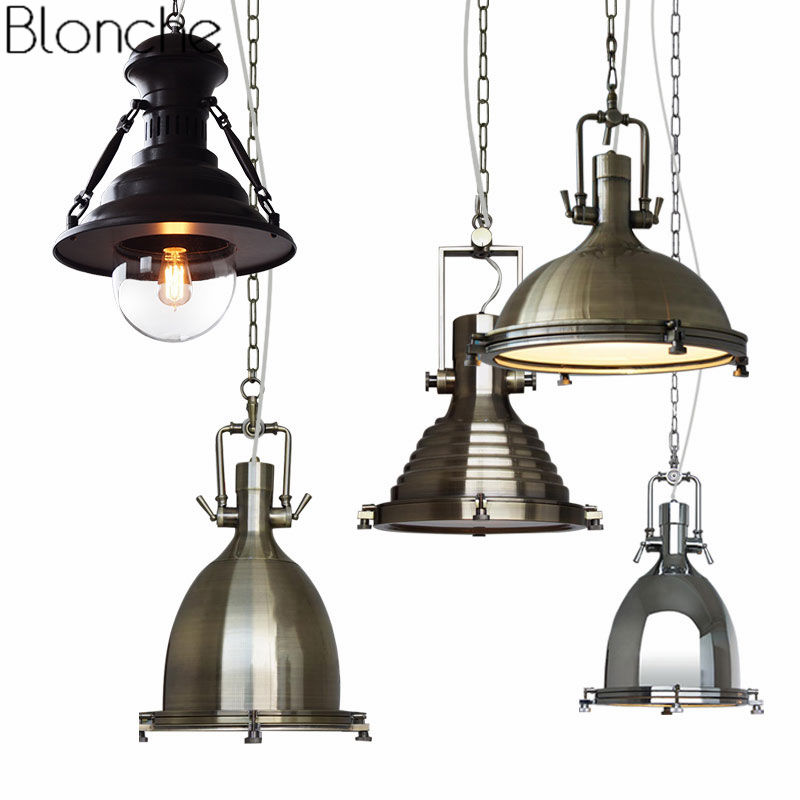 American Vintage Pendant Lights Loft Industrial Lamp Iron Hanging Light for Dining Room Kitchen Lighting Fixtures Home Decor E27 vintage pendant lights loft industrial retro e27 pendant lamp kitchen bar hanging lamp lighting lustre light fixtures