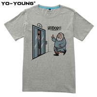 Yo Young Men T Shirts Game Of Thrones Hodor Jon Snow Design Funny T Shirts For