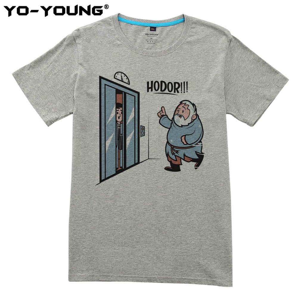 Game Of Thrones Hodor Jon Snow T-shirt da uomo Design divertente T-shirt per uomo Digital stampato 100% 180g cotone pettinato personalizzato