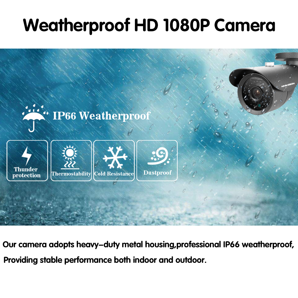 AHD 8CH CCTV System 1080P HDMI DVR 2 0MP indoor Outdoor Weatherproof CCTV Camera set Home Security System Surveillance Kit in Surveillance System from Security Protection