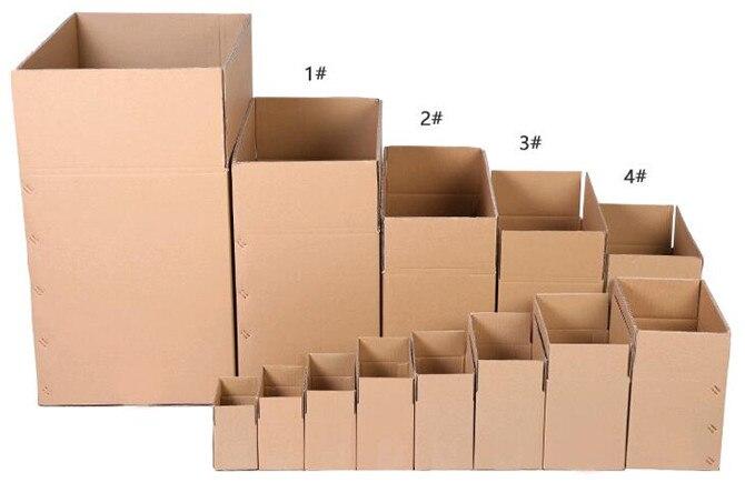 10pcs/lot Wholesale 7 Sizes Kraft Paper Mailing Box Express Transportation Corrugated Packing Box