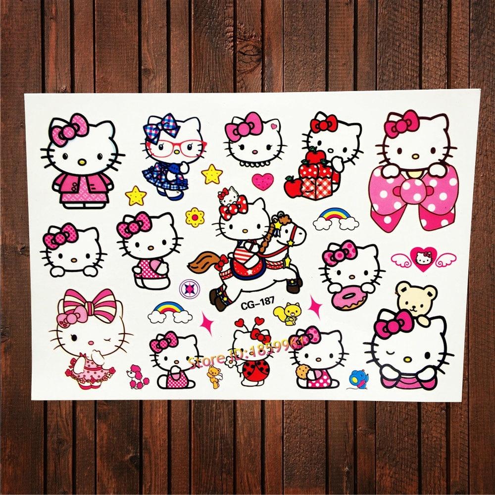 Buy fanrui fashion hello kitty waterproof for Temporary tattoos kids