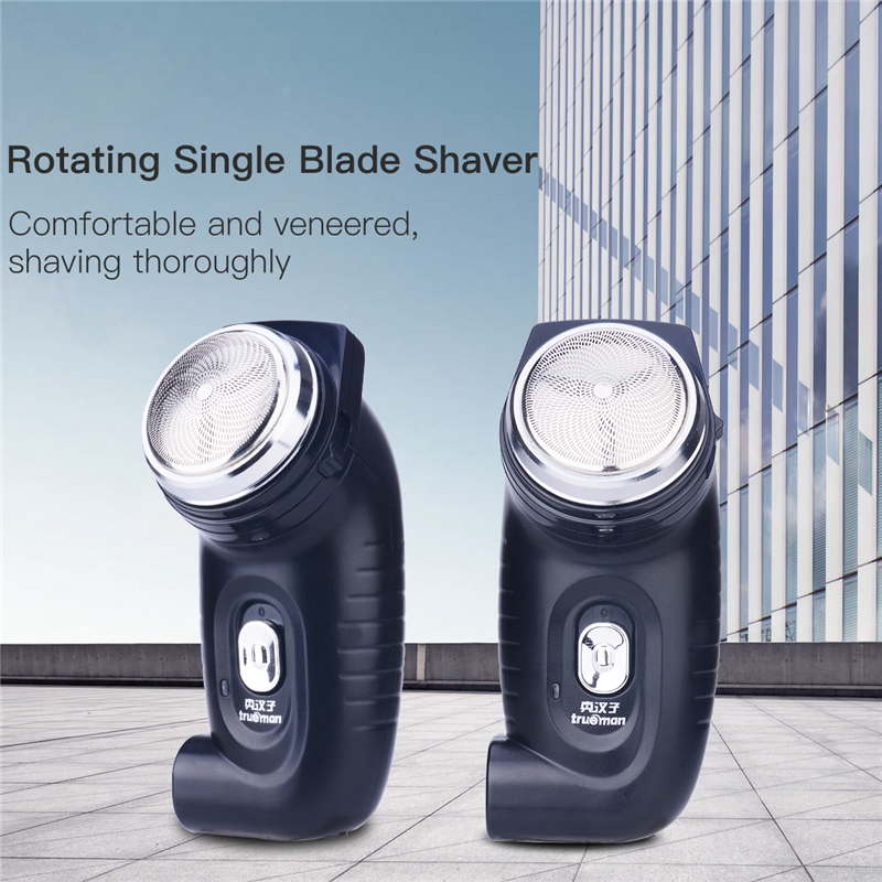 Mini Electric Shaver Stainless Steel Triple Blade Head  Beard Blades Shaving  Men Face Shaving Razor With Built -in Charge Plug men electric shaver razor blades the blade cutter head original rq12 replacement shaver head for 3d rq32 rq10 rq11 rq12