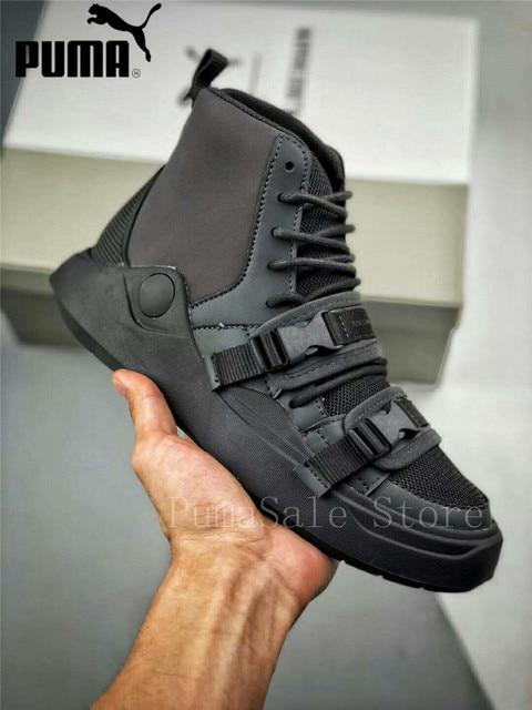 fab44248 2018 Original PUMA HAN KJOBENHAVN X PUMA Abyss hebilla Zapatos altos hombres  Beige y Negro hombres