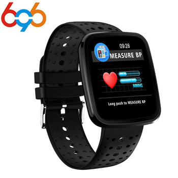696 Heart Rate Monitor Color OLED Sports Men Smart Watch Intelligent Fitness Tracker Smart Wristband Bracelet for Android IOS meanit m5