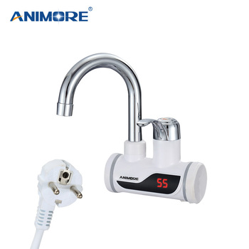 ANIMORE Electric Water Heater Instant Water Heater Faucet Water Heater Cold Heating Faucet Tankless Instantaneous Water Heater 1