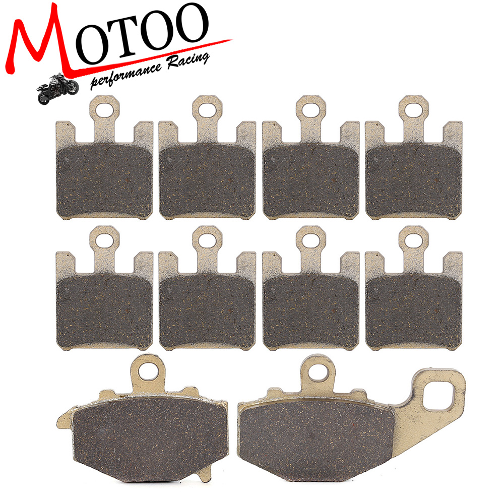 Motoo - Motorcycle Front and Rear Brake Pads For KAWASAKI ZX6R ZX-6R NINJA ZX636 2003-2006 2004 2005 motoo motorcycle front and rear brake pads for honda xrv750 africa twin 1994 2003