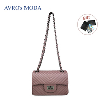 AVRO's MODA Brand genuine leather shoulder bags for women luxury ladies small retro crossbody bags female messenger chain bags