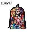 Forudesigns impresión mochilas escolares estudiante mochila niños mochilas mochilas para adolescentes niños niñas niños bolsa de gravedad cae