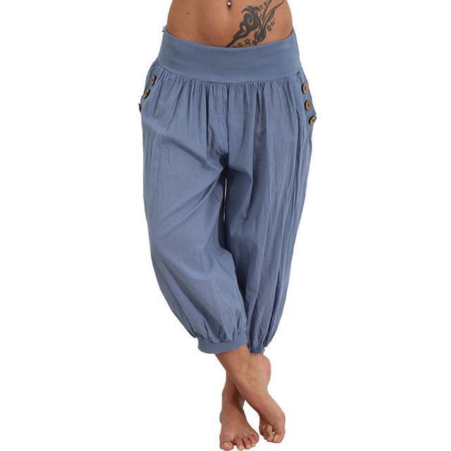 71659fc852155 Womens Palazzo Harem 3 4 Pants leggings Baggy Aladdin Boho Hippy Trousers  Plus Size 5XL