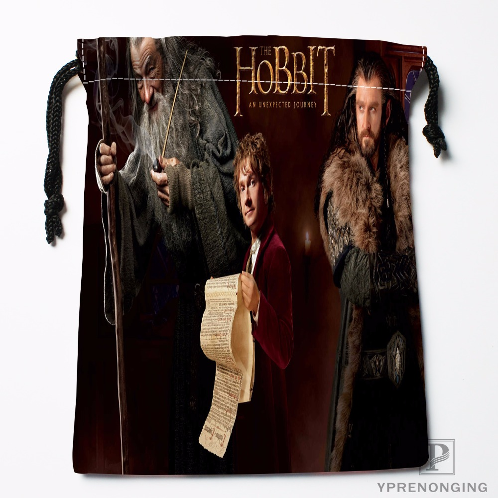 Custom Hobbit Drawstring Bags Travel Storage Mini Pouch Swim Hiking Toy Bag Size 18x22cm#0412-03-48