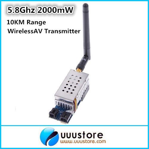 Boscam 5.8Ghz 2000mW 2W 8 Channel Wireless Audio Video FPV Transmitter AV Sender for FPV system 10KM Range 70km long range uav transmitter 1 2g video tranmitter 10w 4 channels fpv helicopter video transmitter cctv wireless sender
