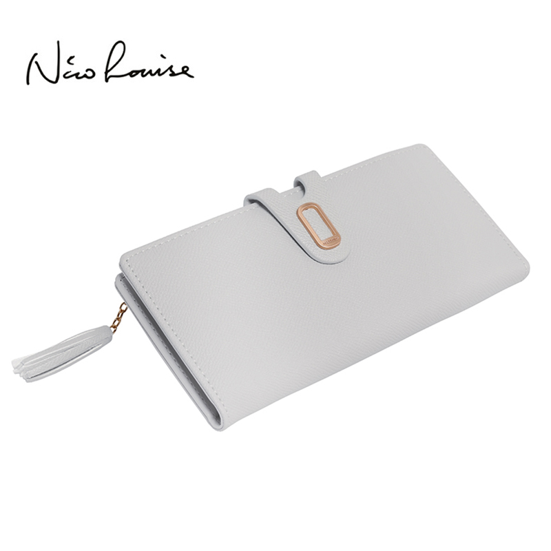 Top Quality Tassel Lovely Leather Long Women Wallet Fashion Girls Change Clasp Purse Money Coin Card Holders wallets Carteras 2017 latest female wallet leather long women wallet change clasp purse money coin card holders wallets carteras clutch purse