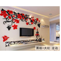 2016 Big Size Wall Stickers Flower Acrylic Sofa Home Wall Decor Sticker DIY Removable Wall Sticker