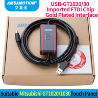 High Quality FTDI Chip+ Isolation Cable Suitable Mitsubishi Programming Cable GT1020/30 Download Cable USB GT1020 USB GT1030