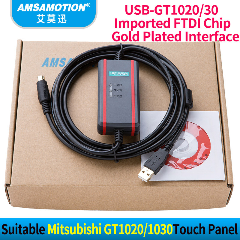 High Quality FTDI Chip+ Isolation Cable Suitable Mitsubishi Programming Cable GT1020/30 Download Cable USB-GT1020 USB-GT1030 suitable fatek fbs series plc programming cable data download line usb fbs 232p0 9f