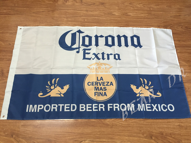 Corona Extra Beer Flag 3x5 FT 150X90CM Banner 100D Polyester flag brass grommets, free shipping
