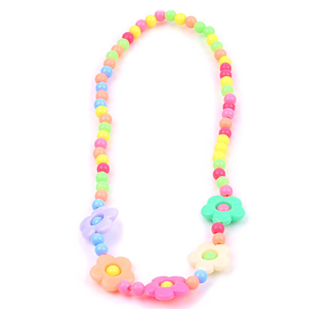 2018 Fashion 1 Set Necklace And Bracelet Candy Color Butterflies Baby Safe Necklace Beauty Wafer Princess Children Jewelry