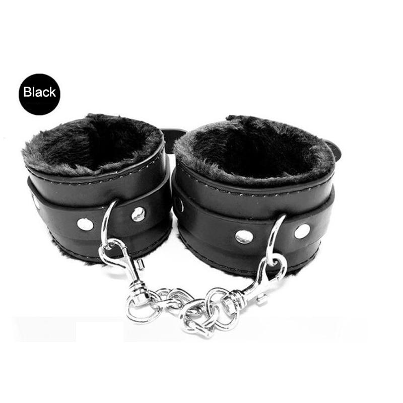 Buy Brand Fetish Bdsm Bondage PU Leather Handcuffs Sex Toys Couples Adult Games Restraint Bondage Cosplay Tool Erotic Toys