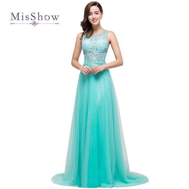 2018 Real Photos Scoop Backless Liques Lace Floor Length Long Aqua Blue Bridesmaid Dresses Wedding Party