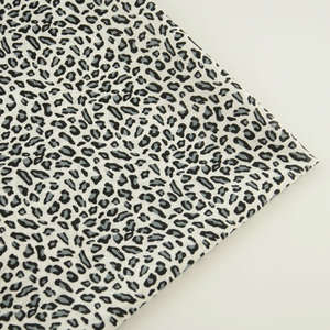 Booksew Patchwork Fabric Home-Decoration Fat-Quarter Leopard-Style Black-Color Simple