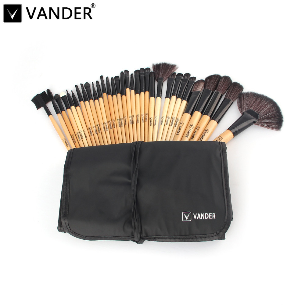Professional 32 Pcs Makeup Brushes Set Foundation Cosmetic Powder Multifunction Eyeliner Toiletry Wood Brush Make Up Tools Kit new lcbox professional 16 pcs makeup brush set kit pouch bag cosmetic brush kit cosmetic powder foundation eyeshadow brush tools