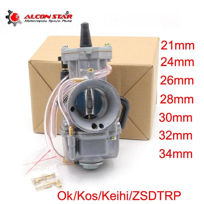Carburateur de course de Performance pour Scooter JOG DIO KR150 Alconstar Koso Keihi OKO PWK 21mm 24mm 26mm 28mm 30mm 32mm 34mm