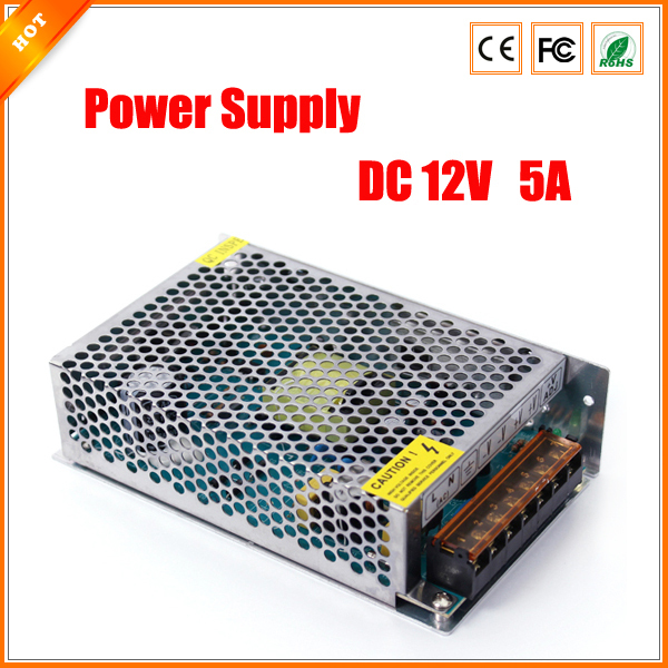High Performance 12v 5a 60w Switch Switching Power Supply For Led Light Strip For Cctv Camera For Security System 110-240v Bright And Translucent In Appearance Cctv Accessories