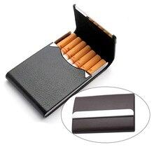 2 стили Натуральная Кожа портсигар для 7 шт. сигарет из нержавеющей стали портсигар для 7 шт. сигареты инструменты CB01(China (Mainland))