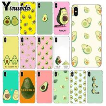 Yinuoda Art Funny Tumblr avocado Transparent Shell Phone Cover for Apple iPhone 8 7 6 6S Plus X XS MAX 5 5S SE XR Mobile Cases
