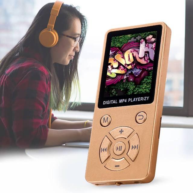 Sáng Bóng Mini USB Clip Màn Hình LCD MP4 Phương Tiện Truyền Thông Máy Nghe Nhạc Hỗ Trợ 32G TF Thẻ Siêu mỏng Âm Thanh Lossless 1.8 ''mp4 Máy Nghe Nhạc với FM E-Book