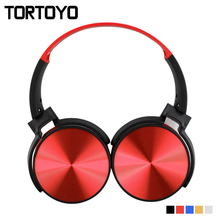 TORTOYO Portable Bluetooth Headphone Wireless Over Ear Foldable Stereo Bass Headset with Microphone TF Card FM Radio 3.5mm Aux