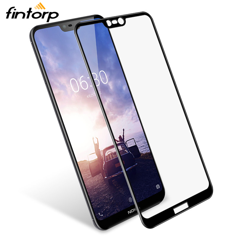 Fintorp Tempered Glass For <font><b>Nokia</b></font> 3 5 6 7 8 3D 9H <font><b>screen</b></font> <font><b>protector</b></font> for <font><b>Nokia</b></font> 7 plus Protective film 6.1 <font><b>5.1</b></font> Plus 3.1 2.1 glass image
