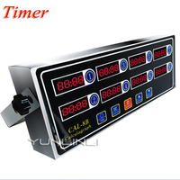 Commercial Kitchen Timer Eight Channel Multi function Reminder Countdown Timer Burger Shop CAL 8B