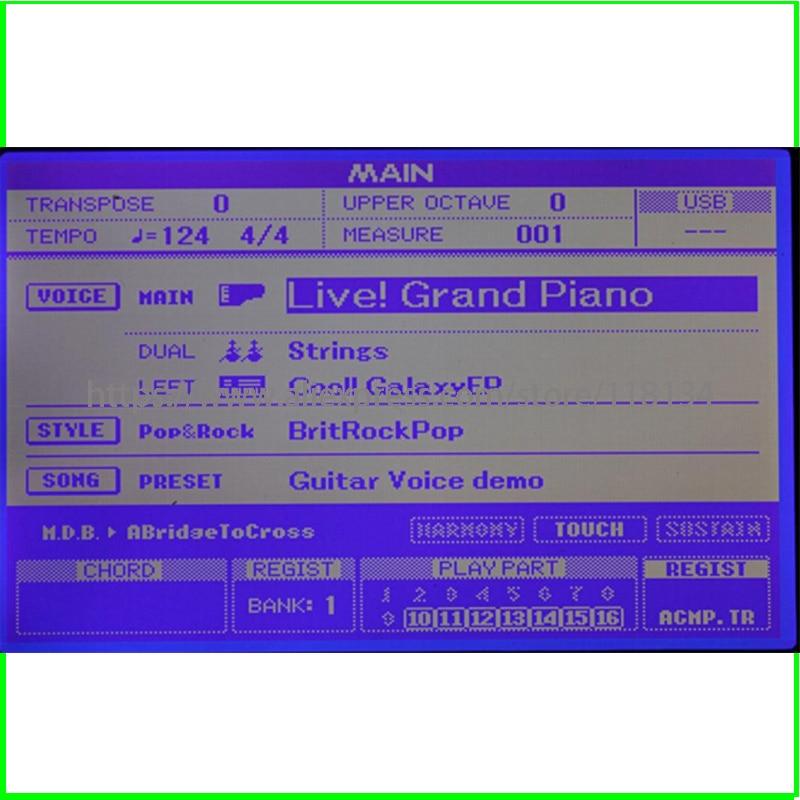 100% test original Pour YAMAHA DGX520 DGX620 YPG625 DGX630 DGX640 rp s500 s550 s650 mm6 mm8 écran LCD module d'affichage