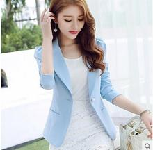 Spring And Summer Womens Suit Jacket Casual Long Sleeves Solid Color Blazer Masculino Suit Blazers Single Breasted Tops J1049